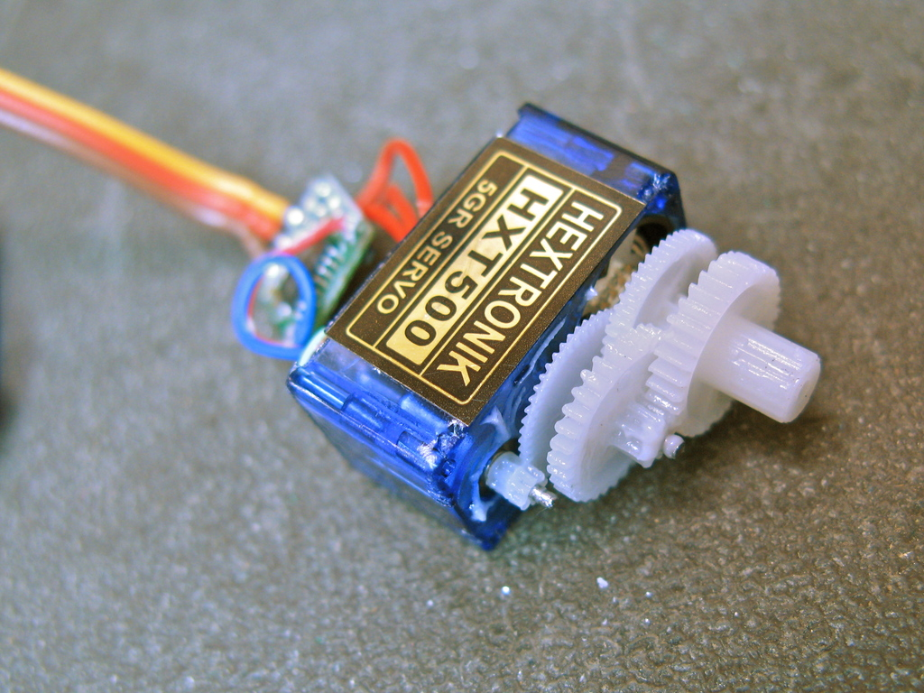Tiny Servos as Continuous Rotation Gearmotors – todbot blog