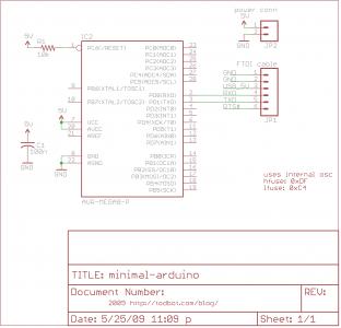 minimal-arduino schematic