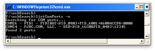listComPorts – Windows command-line tool for USB-to-serial – todbot blog