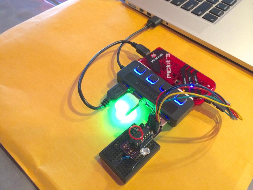 Portable PIC16F1455 Development Platform